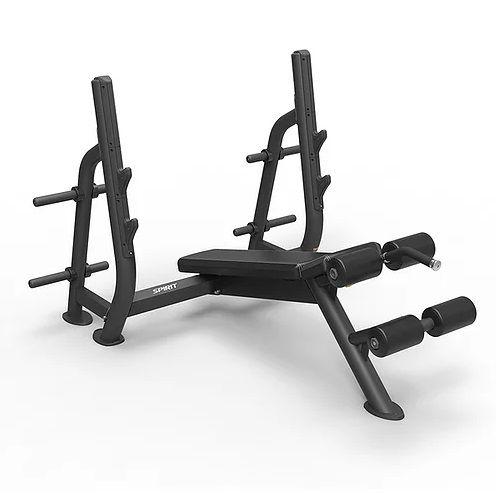 SPIRIT Олимпийская скамья с отрицательным углом наклона (Olympic decline bench)