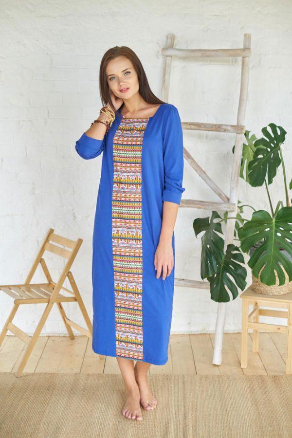 Платье арт.0082 васильковое, фулайкра