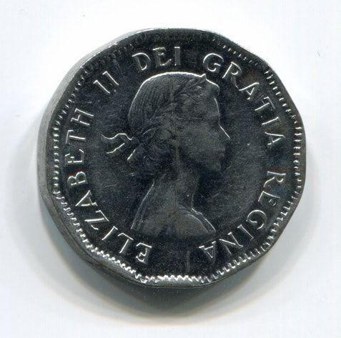 5 центов 1953 года Канада