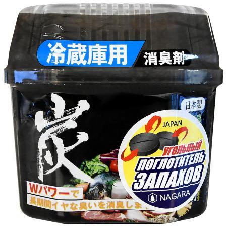 """Древесный уголь """"Nagara"""" для устранения запаха в холодильнике, 160 г"""