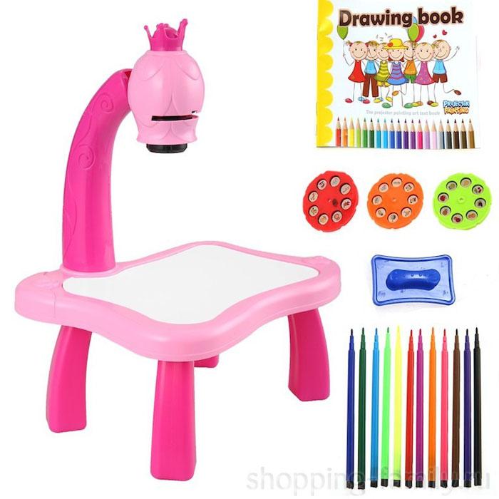 Детский проектор для рисования со столиком Projector Painting для Девочек