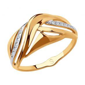 Кольцо из золота с фианитами 018215 SOKOLOV
