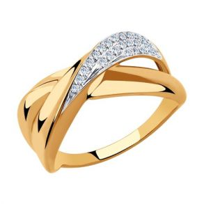 Кольцо из золота с фианитами 018286 SOKOLOV