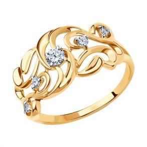 Кольцо из золота 018447 SOKOLOV