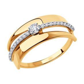 Кольцо из золота 018452 SOKOLOV
