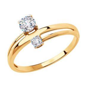 Кольцо из золота с фианитами 018484 SOKOLOV