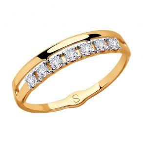 Кольцо из золота со Swarovski Zirconia 81010414 SOKOLOV