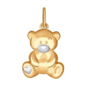 Подвеска «Мишка» из золота 034948 SOKOLOV