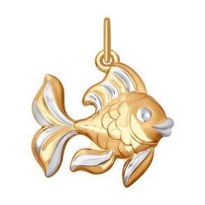 Подвеска «Рыбка» из золота 035304 SOKOLOV