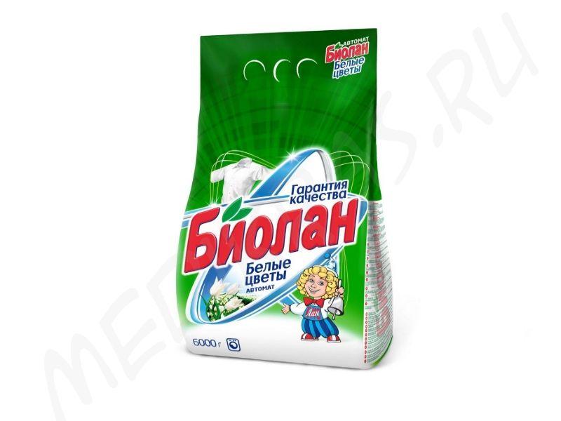 """Стиральный порошок """"Биолан"""" автомат Белые цветы 4 кг"""