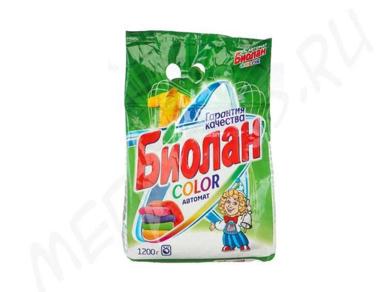 """Стиральный порошок """"Биолан"""" автомат Колор 1,2 кг"""