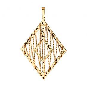 Подвеска из золота с алмазной гранью 035893 SOKOLOV
