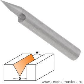 CMT 758.002.11 Фреза концевая для гравирования и декорирования D 6 I 8,5 S 6 L 60