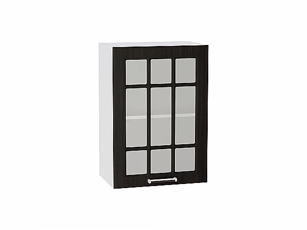 Шкаф верхний Прага В500 со стеклом (Венге Премиум)