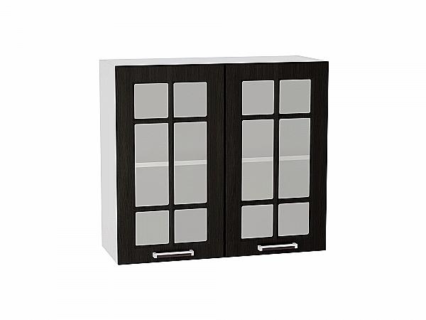 Шкаф верхний Прага В800 со стеклом (Венге Премиум)