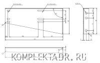 Схема с размерами крепления инструментального ящика DAKEN