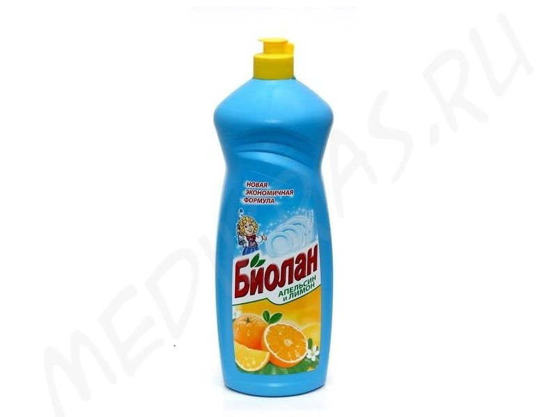 """Средство для мытья посуды """"Биолан"""" Апельсин и лимон 900 мл"""