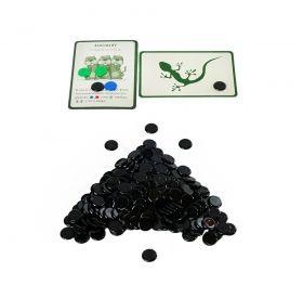 Набор черных пластиковых фишек