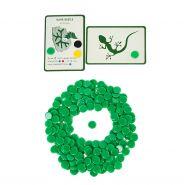 Набор зеленых пластиковых фишек