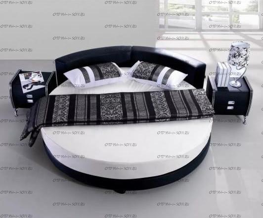 Кровать круглая Амстердам 1079 (б/о)
