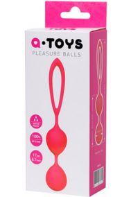 Вагинальные шарики Toyfa A-Toys Pleasure Balls розовые