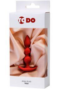 Анальная пробка для ношения Toyfa ToDo Trio красная, 13*3,3 см