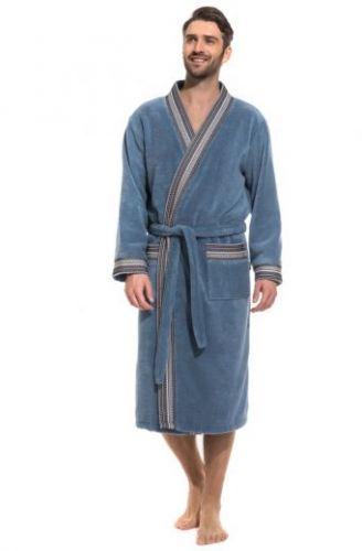 Мужской махровый халат из микро-коттона Elegance