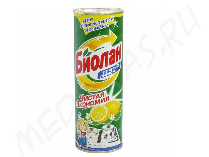 """Чистящий порошок """"Биолан"""" Сочный лимон 400 гр"""