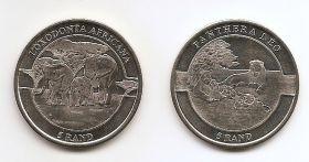 Фауна Африки    1 ранд Республика Венда 2019 .Набор из 2 монет