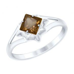 Кольцо из серебра с раухтопазом 92011515 SOKOLOV