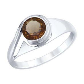 Кольцо из серебра с раухтопазом 92011836 SOKOLOV