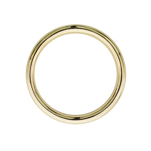 Кольцо литое 25 мм золото