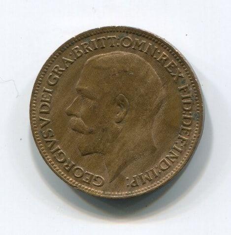 1 фартинг 1920 года Великобритания XF