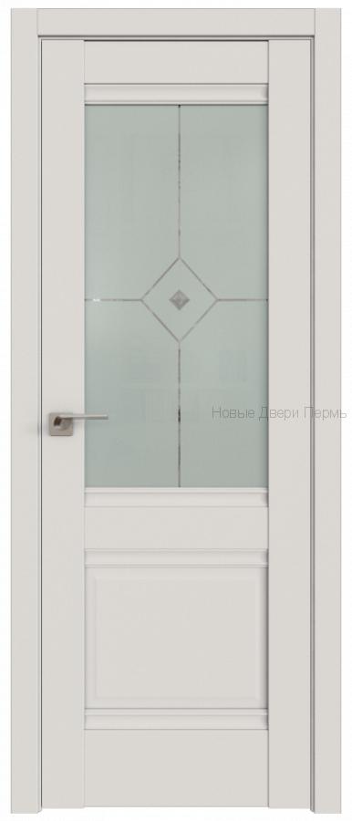 2U ДАРКВАЙТ УЗОР МАТОВОЕ С ПРОЗРАЧНЫМ ФЬЮЗИНГОМ - PROFIL DOORS межкомнатные двери