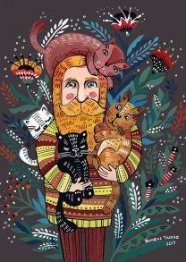 Весенний бородач и его коты