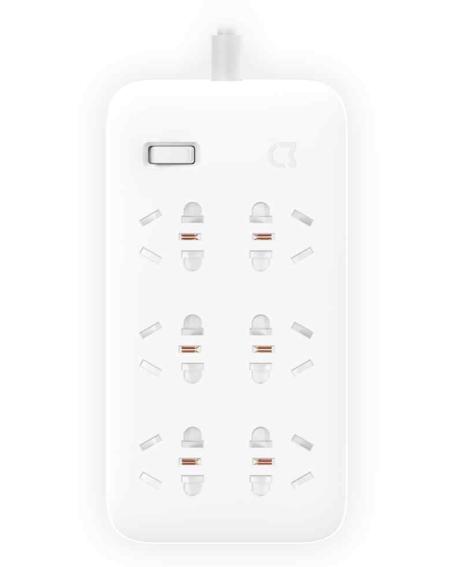 Удлинитель Xiaomi на 6 розеток (MJCXB6-02QM)