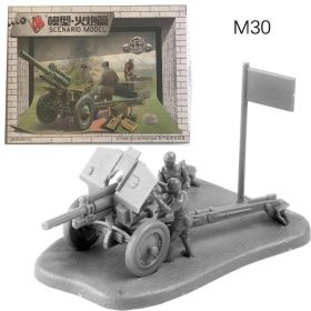Модель сборная пушки Советская 122-мм дивизионная гаубица М-30 1:72