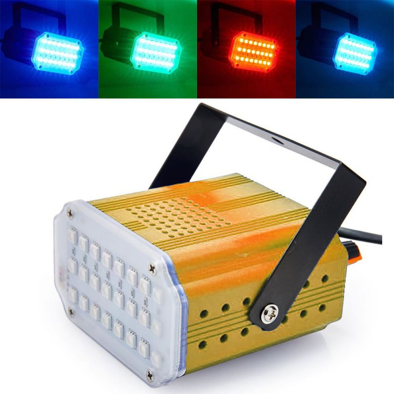 Комнатный Мини-Стробоскоп Mini Room Strobe 24 LED, Цвет Желтый