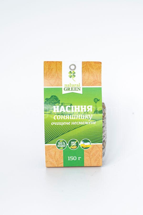 Подсолнечные семечки нежареные очищенные Natural Green (150 грамм)