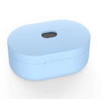 Силиконовый чехол для наушников Xiaomi Redmi Airdots ( Голубой )