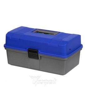 Ящик рыболова двухполочный Helios синий