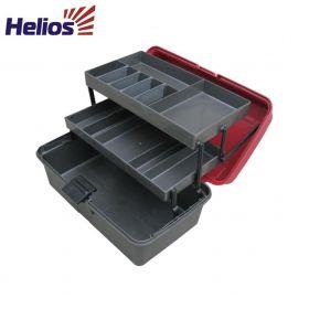 Ящик рыболова двухполочный Helios красный