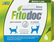 FITODOC Капли дерматологические для кошек и собак мелких пород, 4*0,6 мл