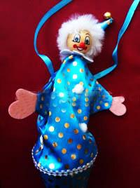 Клоун прикол (вылазит из рожка, 30 см)