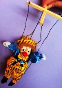 Клоун-марионетка (20 см)