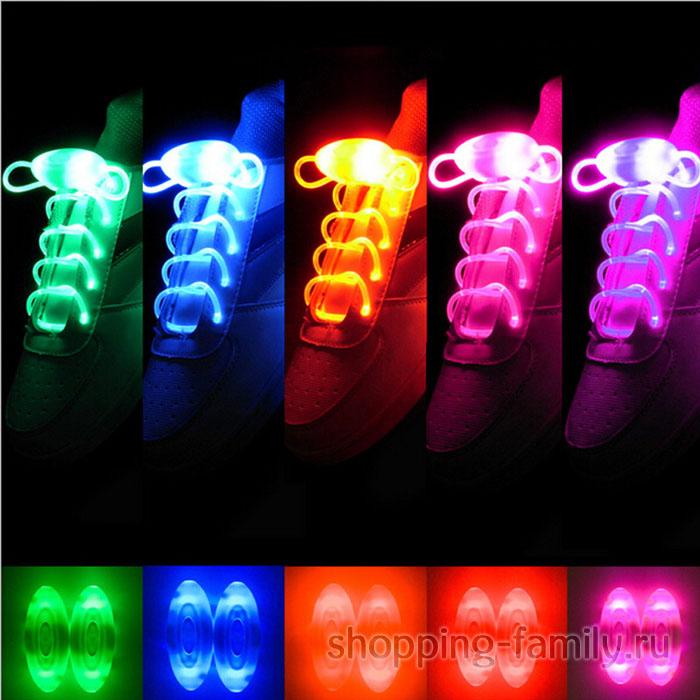 Светящиеся шнурки, цвет Разноцветный