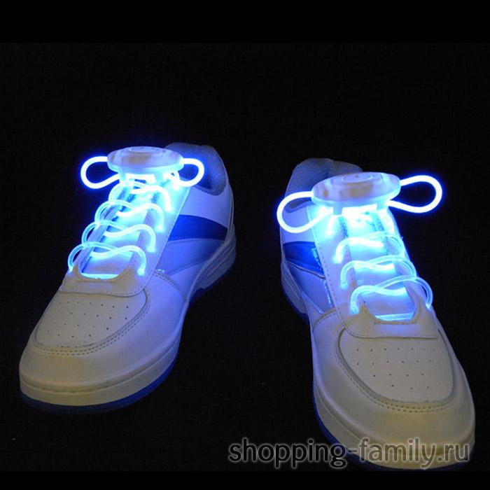 Светящиеся шнурки, цвет Синий