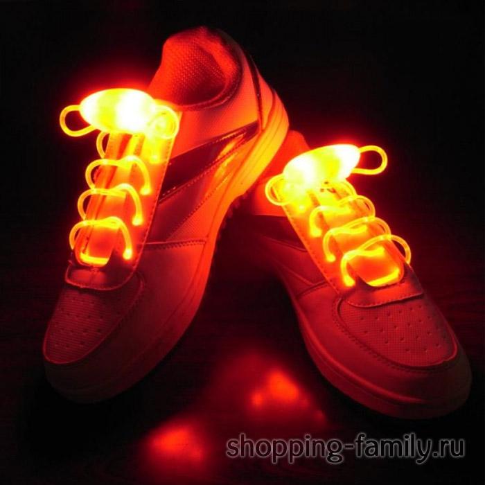 Светящиеся шнурки, цвет Оранжевый