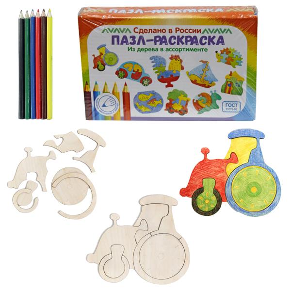 """Развивающая игрушка: Пазл-раскраска""""Трактор"""""""