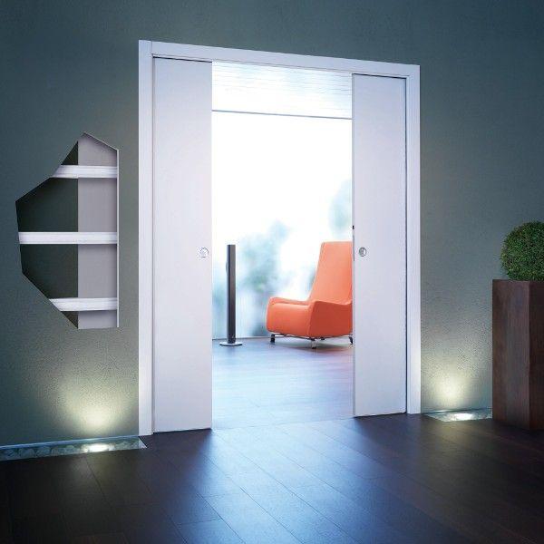 Двустворчатый пенал Eclisse Unico Double для полотна высотой 2100 мм